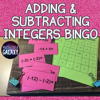 Adding Integers Activity- BINGO game