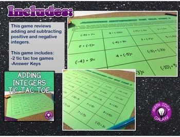Adding Integers Game Bundle