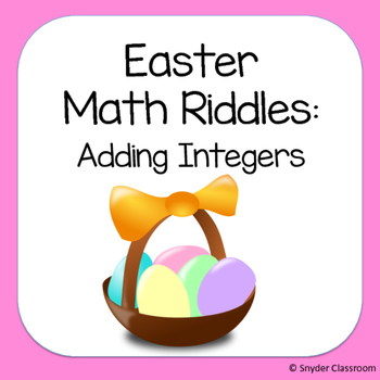 Easter Adding Integers Math Riddles