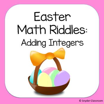 Easter Adding Integers Math Riddles