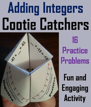 Adding Integers Game/ Adding Integers Practice 5th 6th 7th
