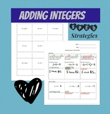 Adding Integers: 4 Lessons/Strategies