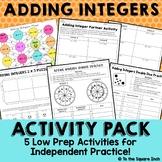 Adding Integers Activities