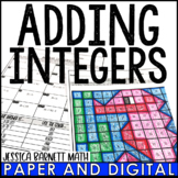 Adding Integers Activity | Coloring | Distance Learning |