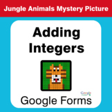 Adding Integers - Animals Mystery Picture - Google Forms