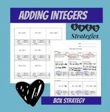 Adding Integers Box Strategy