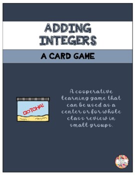 Adding Integers Card Game