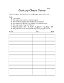 Adding Integers Century Chase Game