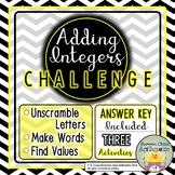 Adding Integers Challenge Activity