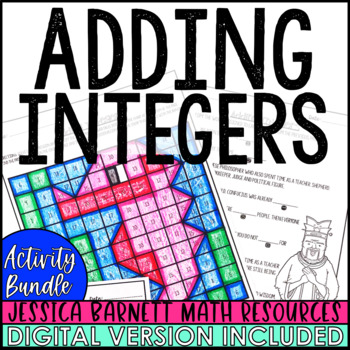 Adding Integers Activity Pack