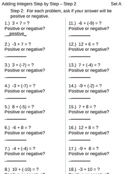 Adding Integers - Chunking