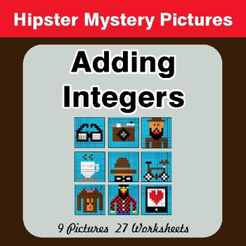 Adding Integers - Color-By-Number Mystery Pictures