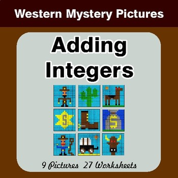 Adding Integers - Color-By-Number Math Mystery Pictures