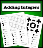 Adding Integers Color Worksheet