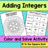 Adding Integers Color and Solve