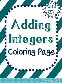 Adding Integers Coloring Page