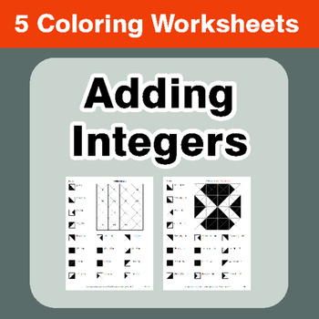 Adding Integers - Coloring Worksheets