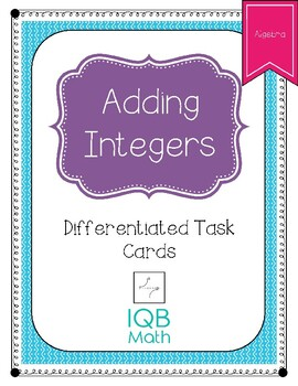 Adding Integers:  Differentiated Task Cards (Pyramid Puzzles)