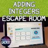 Adding Integers Digital Escape Room (Distance Learning)