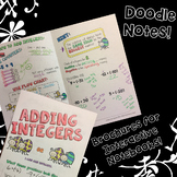 Adding Integers - Decorated Notes Brochure for Interactive Notebooks