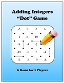 Adding Integers Dot Game(s) - UPDATED to 4 Game Bundle!