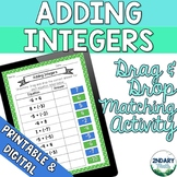 Adding Integers Drag and Drop Matching Activity (Digital +