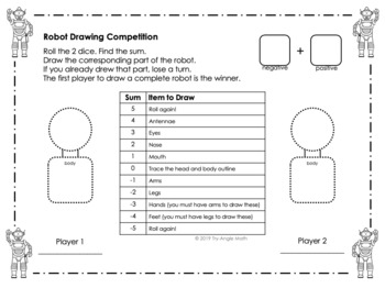 Adding Integers Drawing Game (3 Versions!!)
