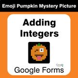 Adding Integers - EMOJI PUMPKIN Mystery Picture - Google Forms
