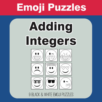Adding Integers - Emoji Picture Puzzles