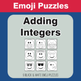 Adding Integers - Emoji Picture Puzzles