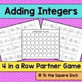 Adding Integers Game
