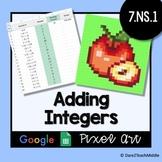 Adding Integers | Google Sheets Pixel Art - Self Grading!