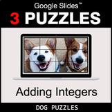 Adding Integers - Google Slides - Dog Puzzles