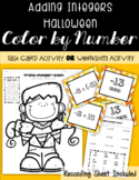 Adding Integers HALLOWEEN Color By Number