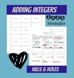 Adding Integers Hills & Holes Strategy