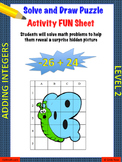 Adding Integers Level 2 Fun Puzzle Activity Worksheet
