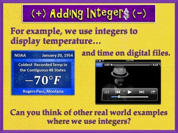 Adding Integers Made Easy (PowerPoint Only)