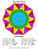Adding Integers Mandala Math Color by Number