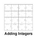 Adding Integers Fun Square Puzzle Activity