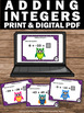 Adding Integers Task Cards, 7th Grade Math Review, Integer Games SCOOT