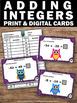 Adding Integers Task Cards Math Center Games & Activities