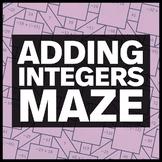 Adding Integers Maze + Bonus Mini Maze