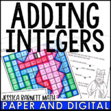 Adding Integers Lesson Bundle - Distance Learning