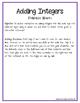 Adding Integers Notes
