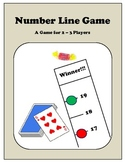 Adding Integers Number Line Game for 2-3 Players