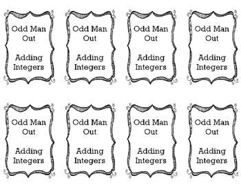 Adding Integers - Odd Man Out