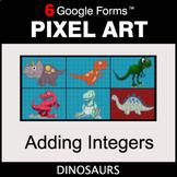Adding Integers - Pixel Art Math   Google Forms
