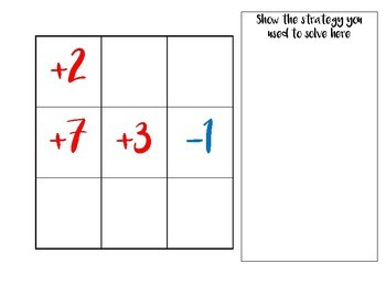 Adding Integers- Positive & Negative Numbers Game