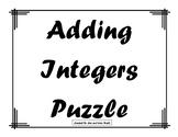 Adding Integers Puzzle