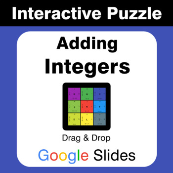 Adding Integers - Puzzles with GOOGLE Slides